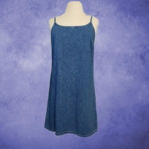 GAP Simple Classic Denim Spaghetti Strap Dress